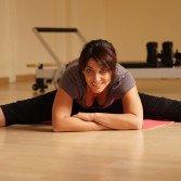 pilates hip stretching exercise